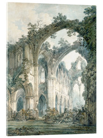 Acrylic print  Interior of Tintern Abbey in Monmouthshire - Joseph Mallord William Turner