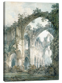 Canvas print  interior of tintern abbey monmouthshire - Joseph Mallord William Turner