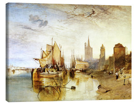 Canvas print  Cologne, the arrival of a post boat - Joseph Mallord William Turner