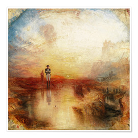 Premium poster  War, the Exile and the Rock Limpet - Joseph Mallord William Turner