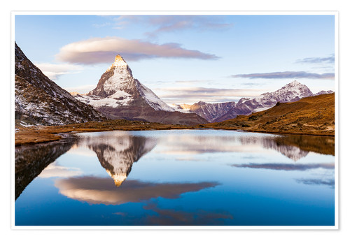 Premium poster Sunrise at the Matterhorn in Switzerland