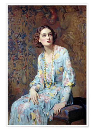 Premium poster Portrait of a Lady