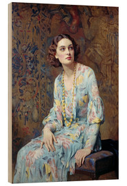 Wood  Portrait of a Lady - Albert Henry Collings