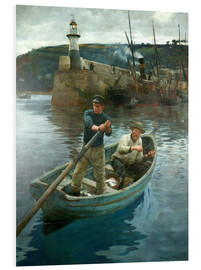 Foam board print  The Lighthouse - Stanhope Alexander Forbes