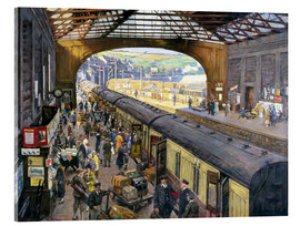 Acrylic print  The Terminus, Penzance Station, Cornwall - Stanhope Alexander Forbes