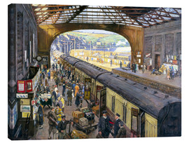 Canvas print  The Terminus, Penzance Station, Cornwall - Stanhope Alexander Forbes