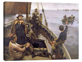 Canvas print  Off to the Fishing Ground - Stanhope Alexander Forbes