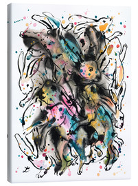 Canvas print  March Hares - Zaira Dzhaubaeva