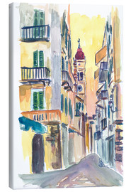 Canvas print  Marvellous Corfu Streets in Greece - M. Bleichner