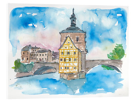 Acrylic print  Bridge In Bamberg Bavaria with City Hall - M. Bleichner