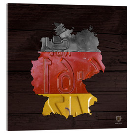 Acrylic print  Germany Map in License Plates - Design Turnpike