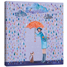 Canvas print  It's raining, kitten - Mila Marquis