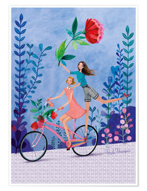 Poster  Merry bike ride - Mila Marquis