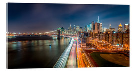 Acrylic print  New York Panorama Night Skyline - Sascha Kilmer