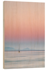 Wood print  Sailboat on the sea - Filtergrafia