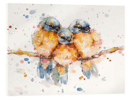 Acrylic print  Little bluebirds - Sillier Than Sally