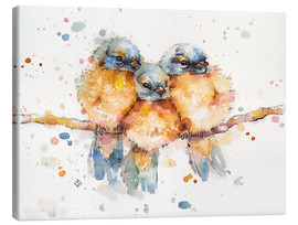 Canvas print  Little bluebirds - Sillier Than Sally