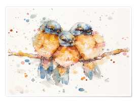 Premium poster Little bluebirds