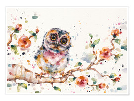 Premium poster  Yep Cute Is My Middle Name (baby Owl) - Sillier Than Sally