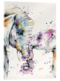 Acrylic print  That type of love (elephants) - Sillier Than Sally