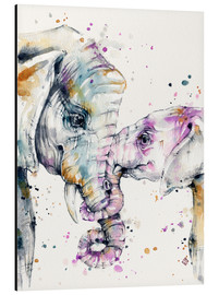 Aluminium print  That type of love (elephants) - Sillier Than Sally