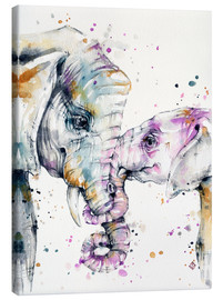 Canvas print  That type of love (elephants) - Sillier Than Sally