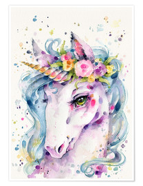 Premium poster  Little unicorn - Sillier Than Sally