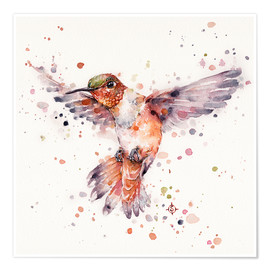 Premium poster  Rufous the hummingbird - Sillier Than Sally