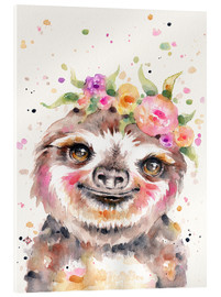Acrylic print  Little Sloth - Sillier Than Sally
