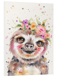 Foam board print  Little Sloth - Sillier Than Sally