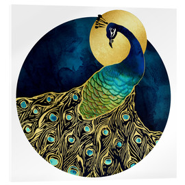 Acrylic print  Golden Peacock - SpaceFrog Designs