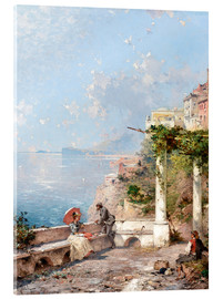 Acrylic print  Sorrento, Gulf of Naples - Franz Richard Unterberger