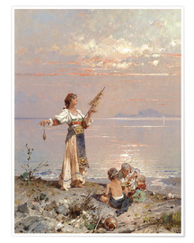 Premium poster In the bay of Naples