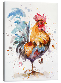 Canvas print  Roosters About - Sillier Than Sally