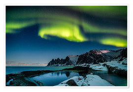 Premium poster  Aurora Borealis above the island of Senja (Northern Norway) - Sascha Kilmer