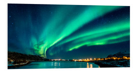 Foam board print  Northern Lights in Northern Norway - Sascha Kilmer