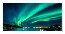 Premium poster  Northern Lights in Northern Norway - Sascha Kilmer