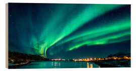 Wood print  Northern Lights in Northern Norway - Sascha Kilmer