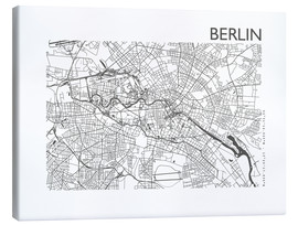 Canvas  City map of Berlin - 44spaces