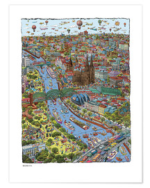 Premium poster  Cologne - Cartoon City