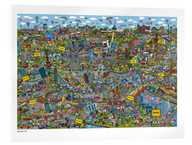 Acrylic print  Berlin - Cartoon City