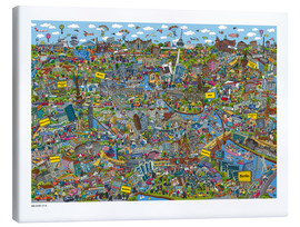 Canvas print  Berlin - Cartoon City