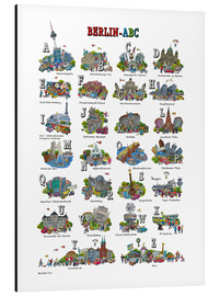 Aluminium print  Berlin abc - Cartoon City