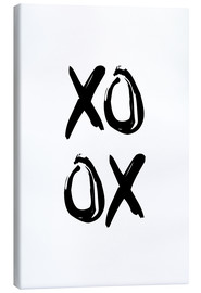 Canvas print  XOXO - Typobox