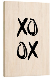 Wood print  XOXO - Typobox