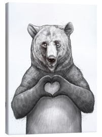 Canvas print  Bear with heart - Nikita Korenkov