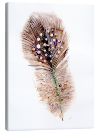 Canvas print  Feather brown - Verbrugge Watercolor