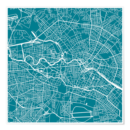 City map of Berlin Posters and Prints | Posterlounge.com