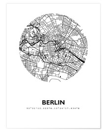 Premium poster  City map of Berlin - 44spaces