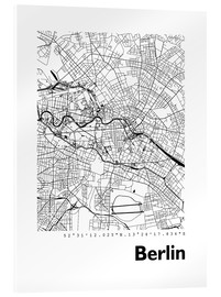 Acrylic print  City map of Berlin - 44spaces